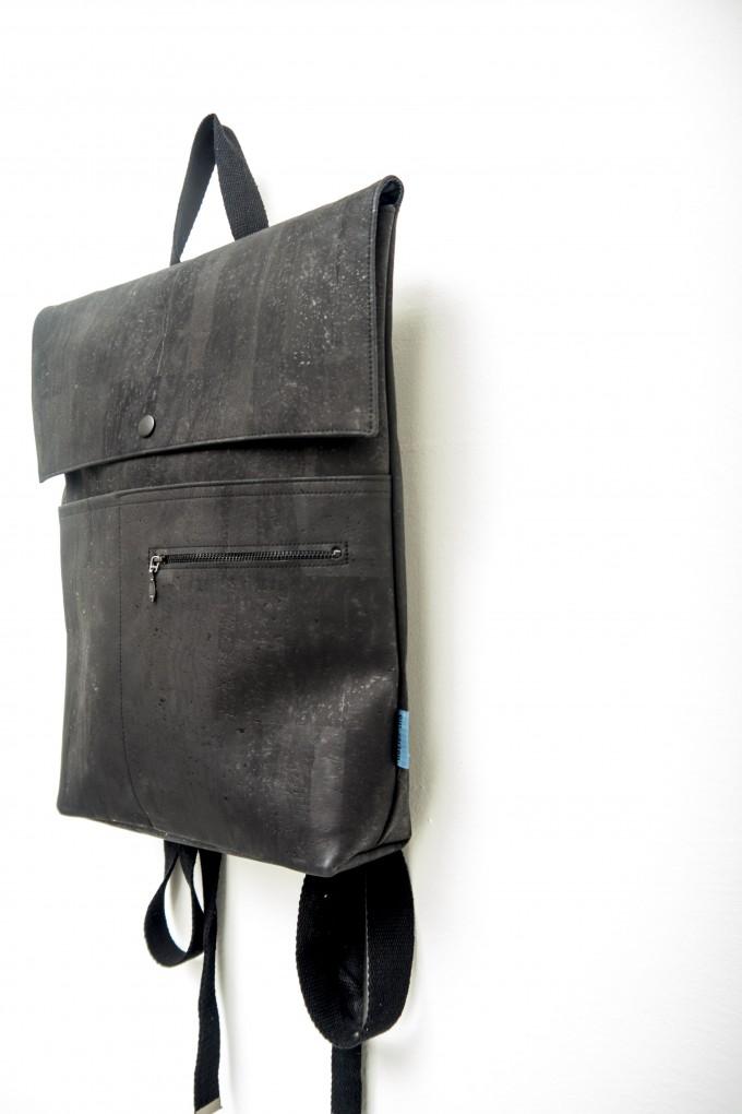 ein garten – corkskin backpack myrto all black