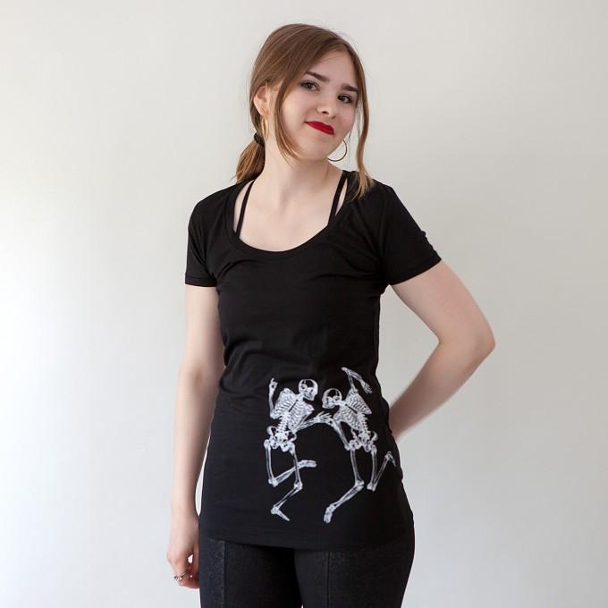 Bon Matin Tunic Shirt Skelette (black)