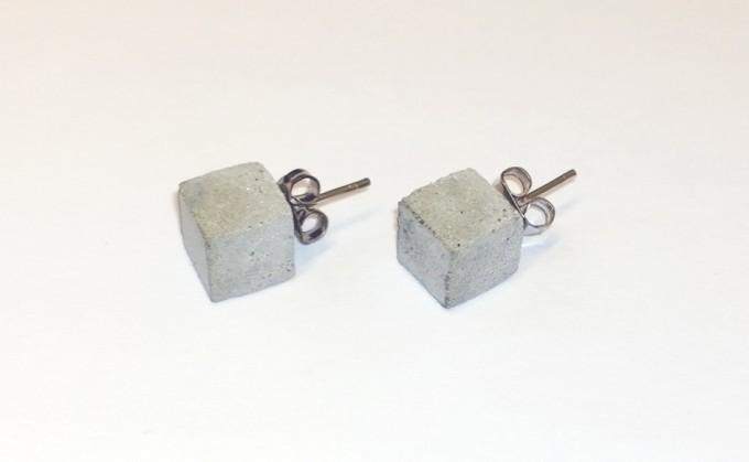 betonIDEE bricks   filigrane Ohrstecker aus Beton