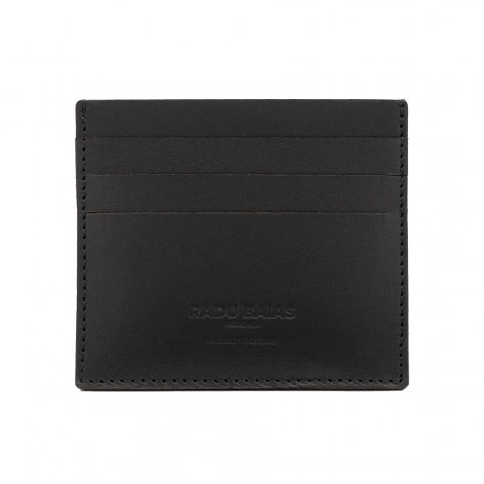 Cardholder Wallet in schwarz - aus premium pflanzlich gegerbtem Leder