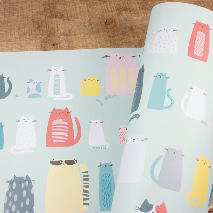 """Bow & Hummingbird Geschenkpapier """"Cats"""""""