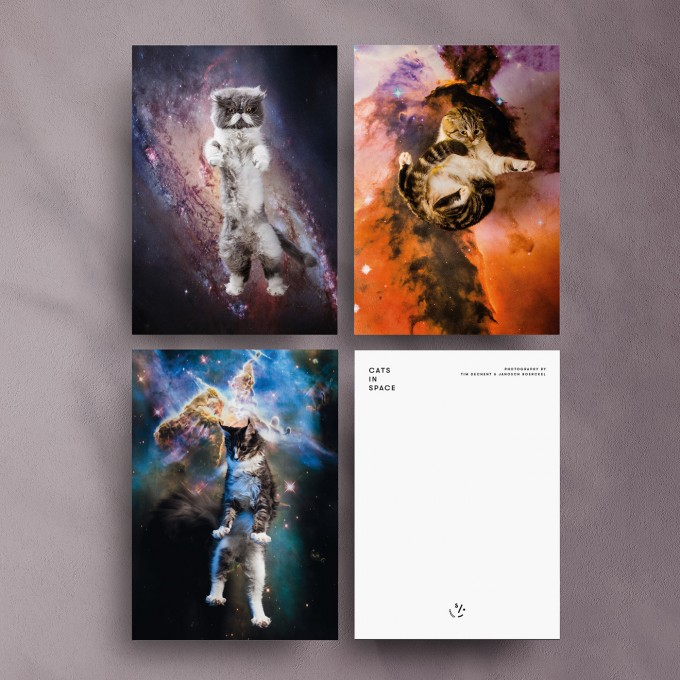 """CATS IN SPACE"" Postkarten Set"