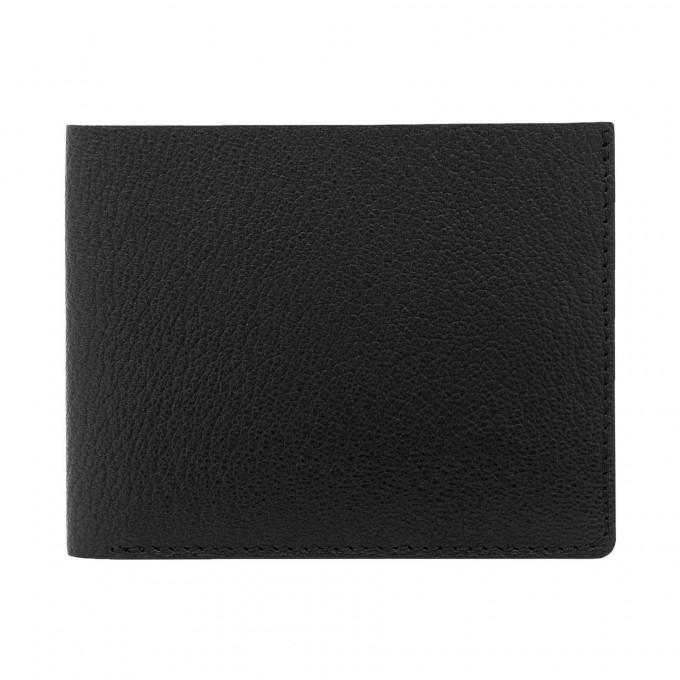 Faltbare Geldbörse in schwarz - aus premium pflanzlich gegerbtem Ziegenleder