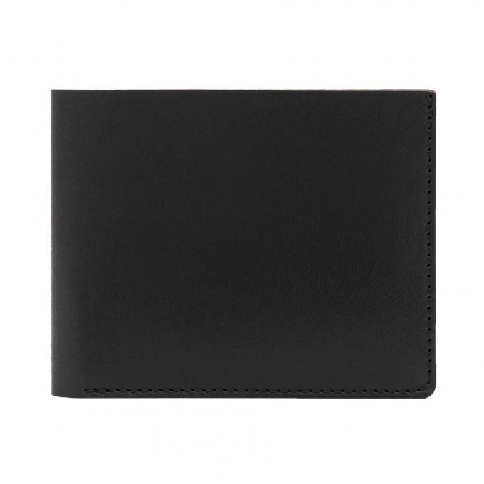 Faltbare Geldbörse in schwarz - aus premium pflanzlich gegerbtem Leder