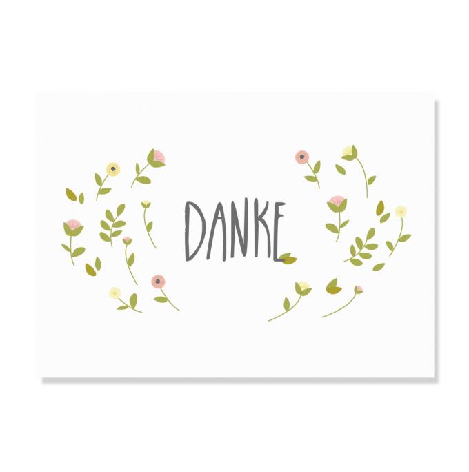 "Edith schmuckes Papier ""Danke"" Postkarte"