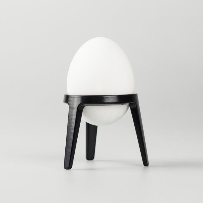 rocket - Design Eierbecher aus Metall (4er Set schwarz)