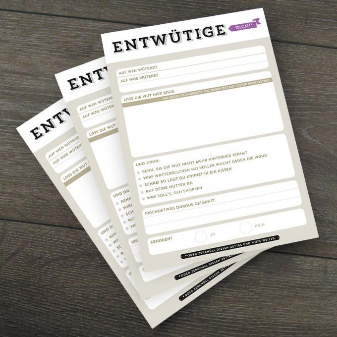 Design Verlag Notizblock – Entwütige dich! (3er-Set)