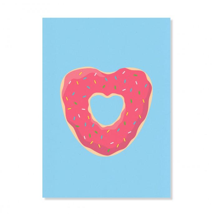 """Edith schmuckes Papier """"Donut"""" Postkarte"""