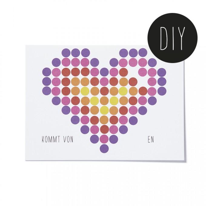 dot on art cards / gift – Postkartenset zum Selberkleben