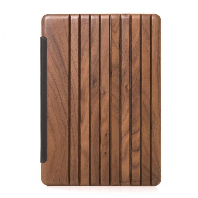 Woodcessories - EcoGuard iPad Case - Premium Design Cover, Hülle für das iPad aus echtem Holz (iPad Pro 12.9 (Univ Fit 2015/17), Walnuss oder Kirsche, transparent)