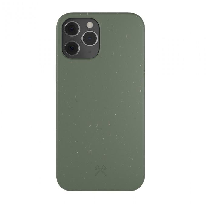 Woodcessoires – Nachhaltige iPhone Hülle aus Bio-Material für iPhone 12 / Mini / Pro / Pro Max (nachtgrün)