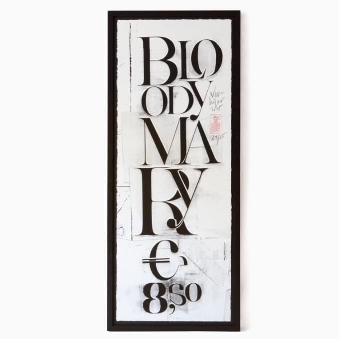 edition rikiki Siebdruck Erich Wellhöfer – Bloody Mary