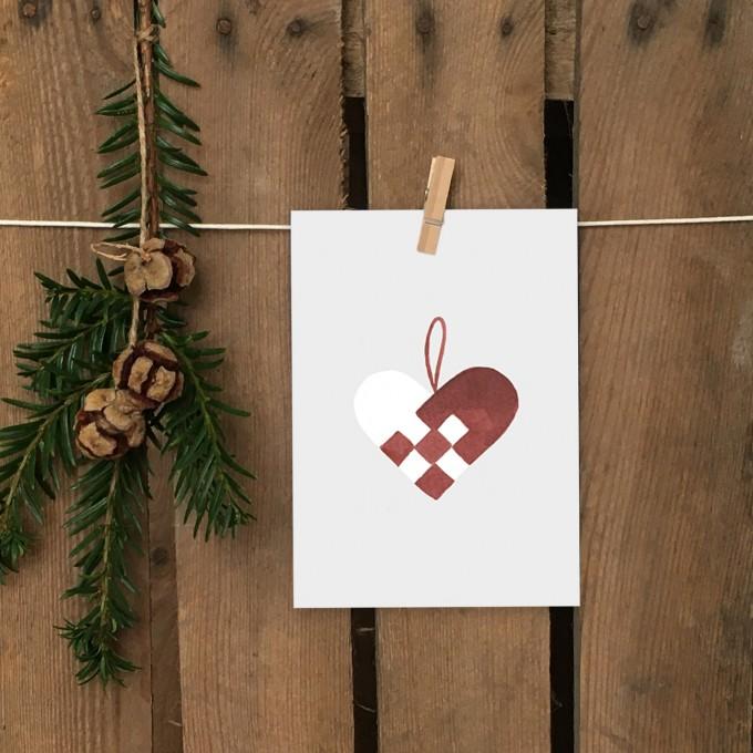 Weihnachtskarte A6 – Papierherz - Elliet