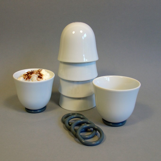 soprana design Set YOU Espressobecher glasiert, 4 Stück
