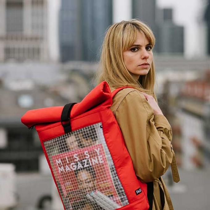 Rucksack - Faix Design - INVISIBLE SHELL- rojo