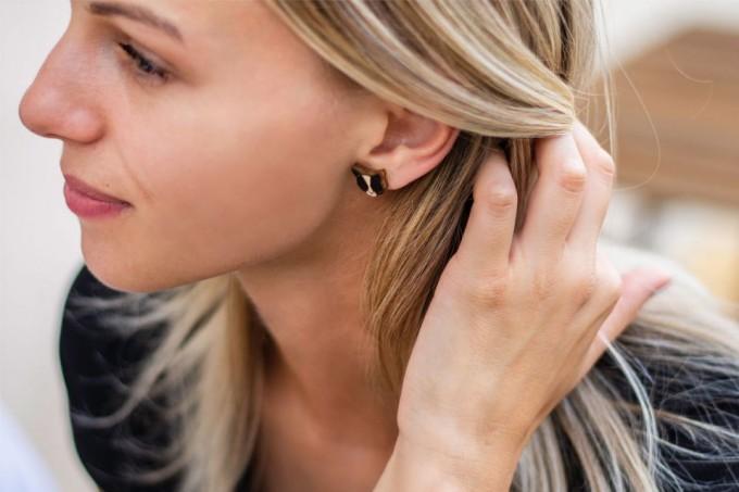 BeWooden Ohrringe - Ohrstecker aus Holz - Black Cat Earrings