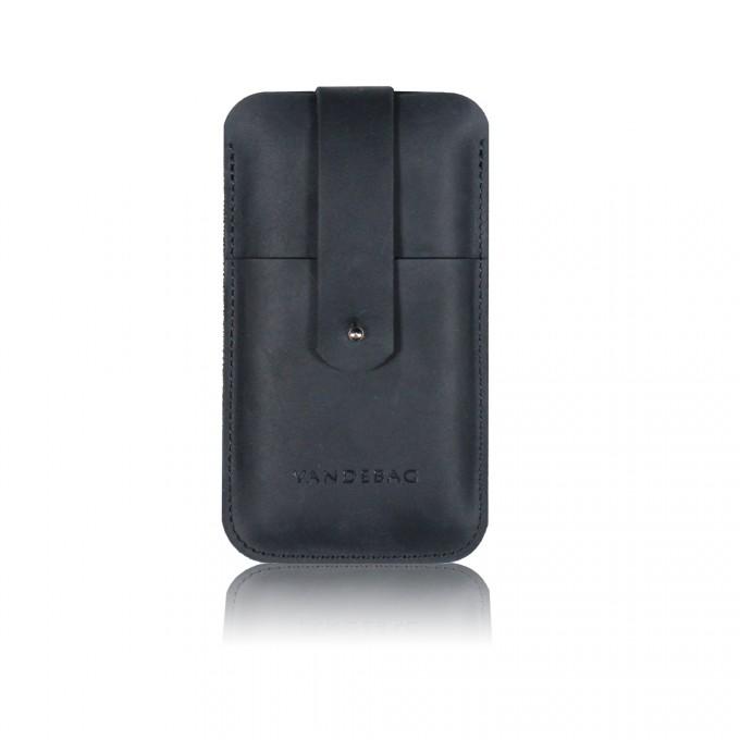 VANDEBAG - iPhone Case aus schwarzem Leder