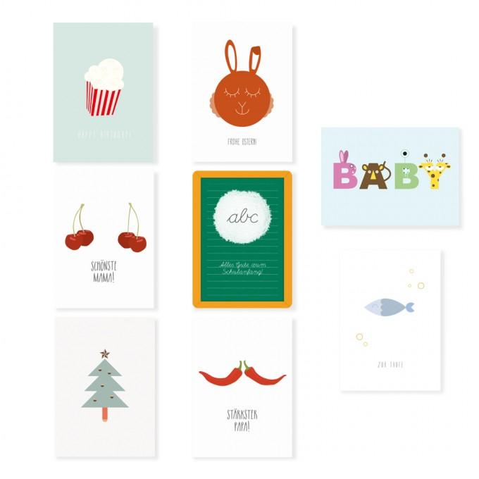 """Edith schmuckes Papier """"Feierlichkeiten - Postkarten Set"""""""