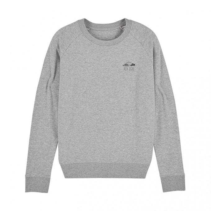 melike Frauen Sweatshirt heather grey ACH EGAL. eco+fair