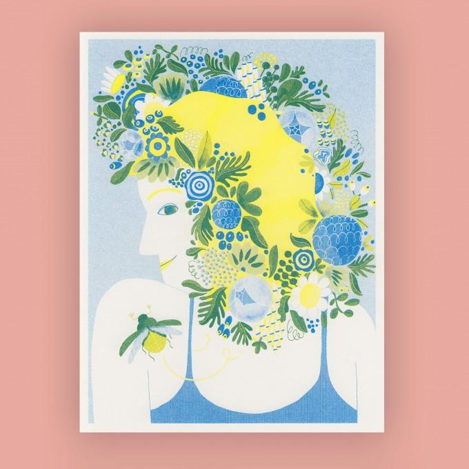 Anne Albert – Midsommar – Riso-Druck (17,8 x 23,1 cm)