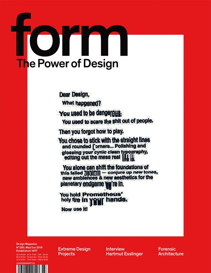 form N° 283. The Power of Design