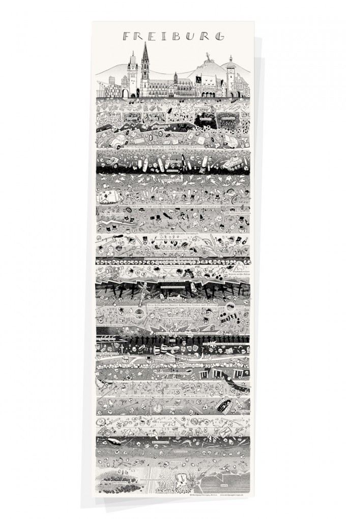Wolfgang Philippi FREIBURG PLAKAT 30x88 cm