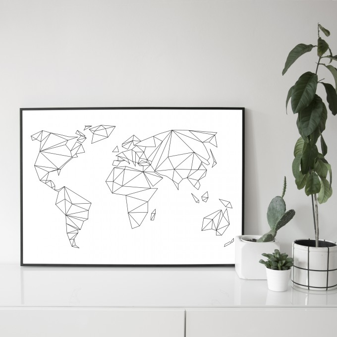 na.hili 70x50 POSTER Geometrical World ARTPRINT
