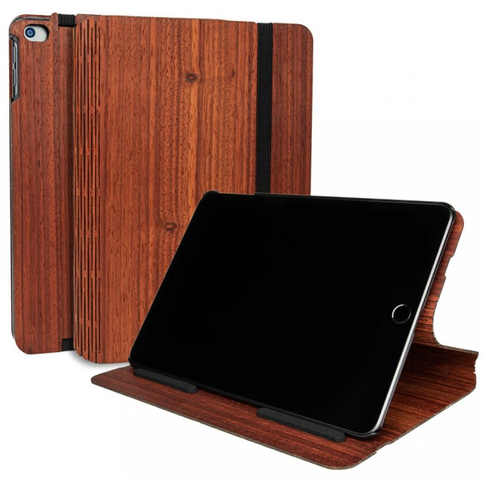 JUNGHOLZ Design WoodCase, Tabletcase, Padouk, iPad Mini 5.Generation