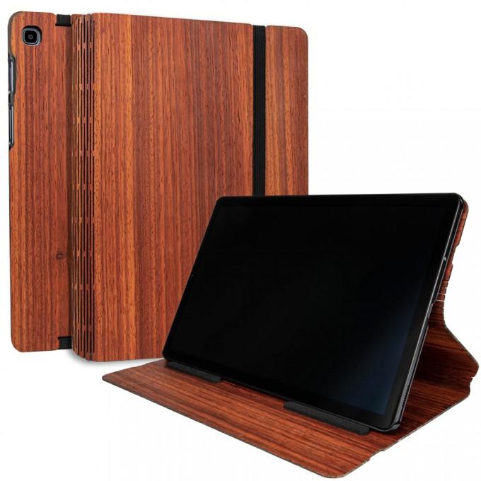 JUNGHOLZ Design WoodCase, Tabletcase, Padouk, Samsung Galaxy Tab S5e