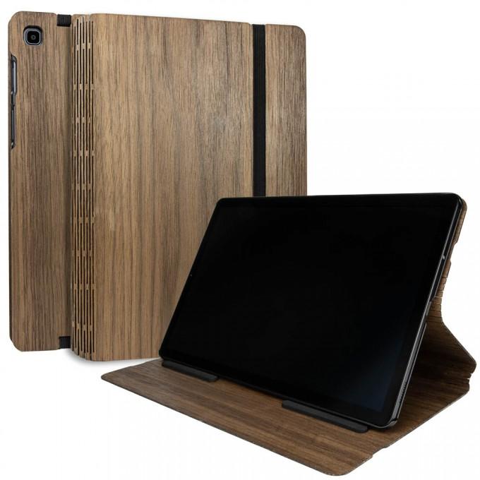 JUNGHOLZ Design Wood Case, Tabletcase, Walnuss, Samsung Galaxy Tab S5e