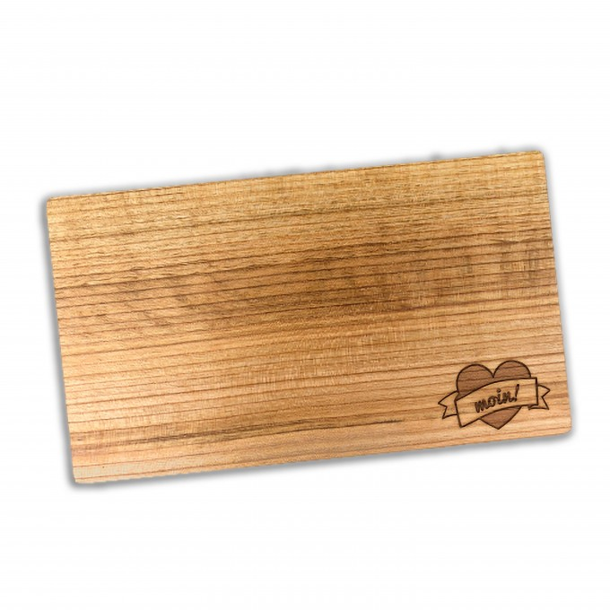 Stadtliebe®   Hamburg Frühstücksbrettchen Lasergravur Holz geölt