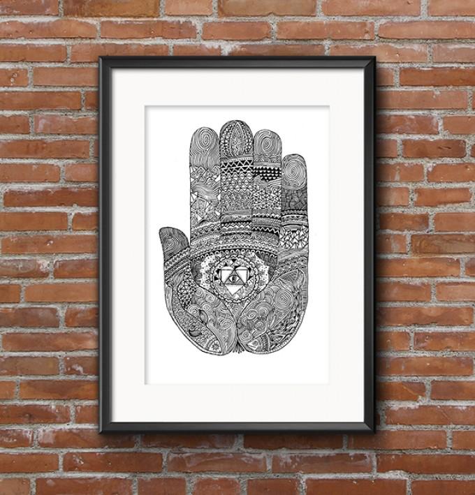 Denis Faneites - Hand of Buddha (Siebdruck)