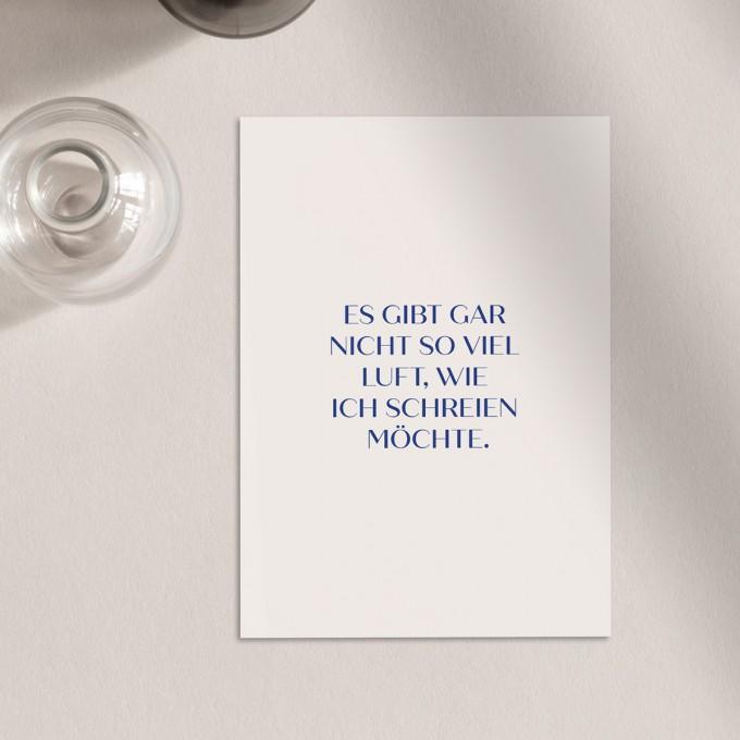 Keine Luft | 3er Set Klappkarten inkl. Umschlag | heartfelt paper & co