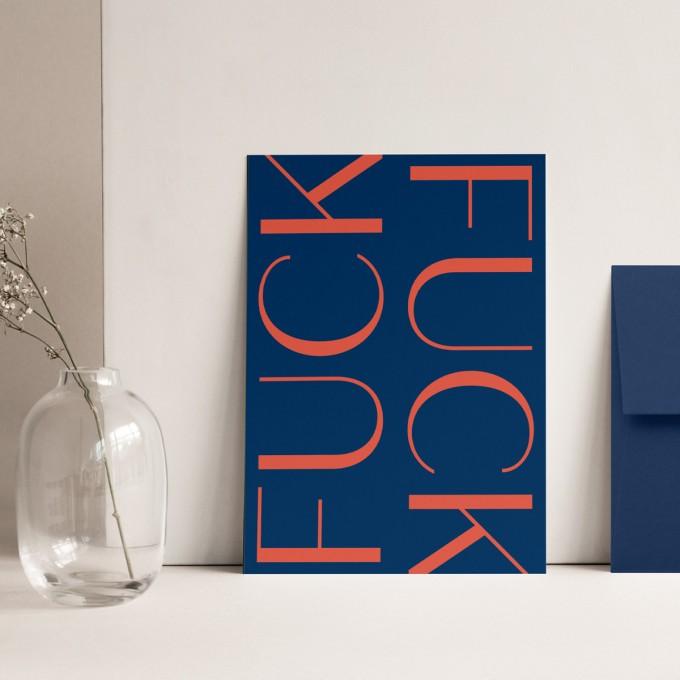 Fuck | 3er Set Klappkarten inkl. Umschlag | heartfelt paper & co