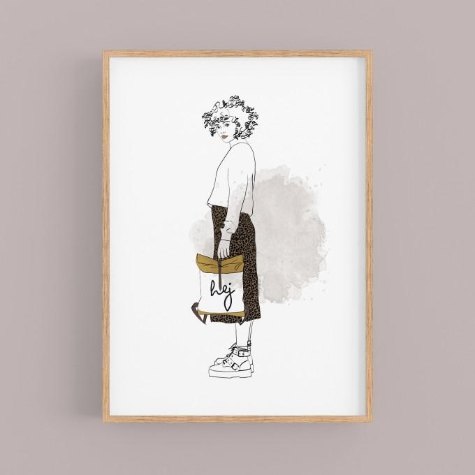 """nathys illustration """"hej"""""""
