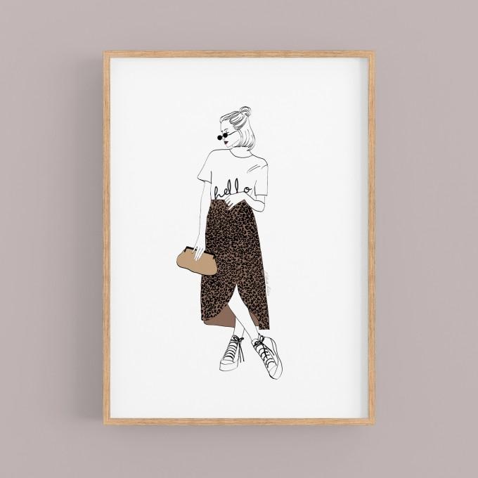 """nathys illustration """"hello"""""""