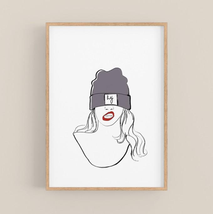 nathys illustration - hej cap