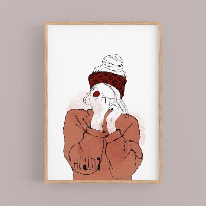 "nathys illustration ""hiding"""