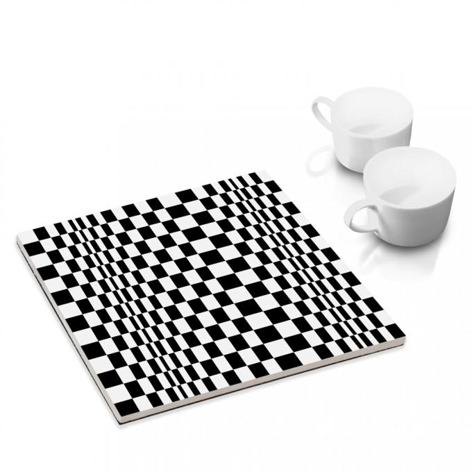 COGNOSCO Topfuntersetzer OP-ART Quadrat 8a