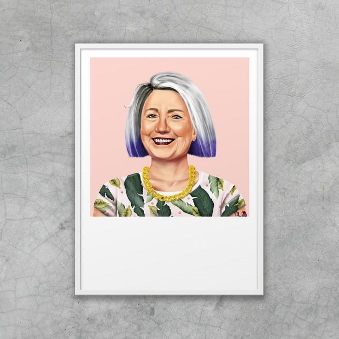 HIPSTORY Hillary Clinton Artprint DIN A5