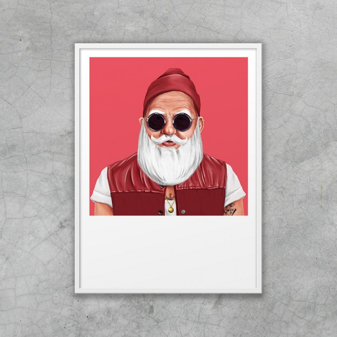 edition ij HIPSTORY Santa Claus DIN A5-Wandprint