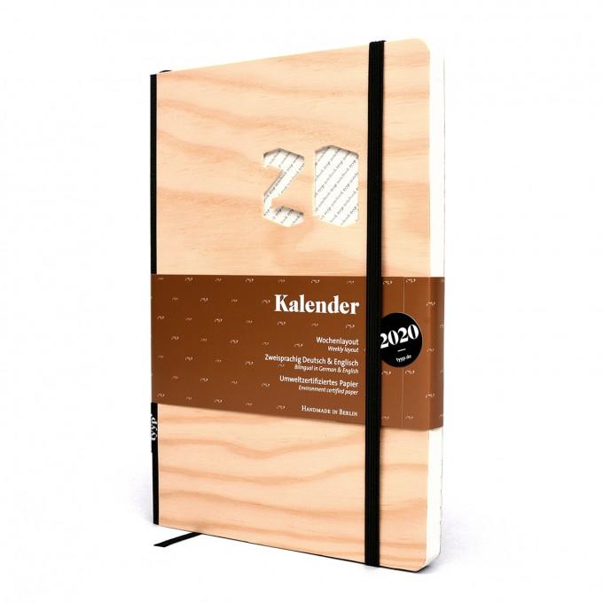 tyyp Kalender 2020 - Soft, Holz, DIN A5, Handmade