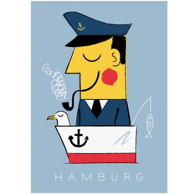 human empire hamburg kapit n poster din a3. Black Bedroom Furniture Sets. Home Design Ideas