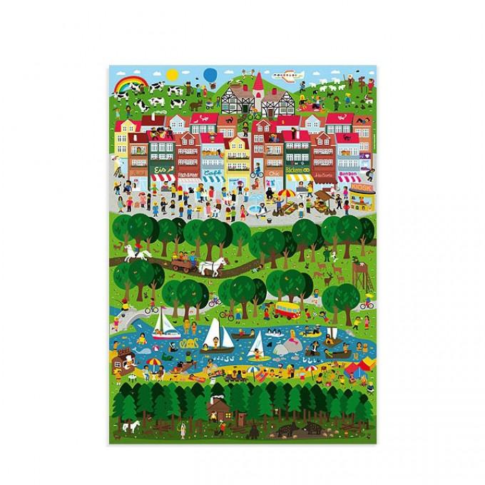 Human Empire Stadt Land Fluss Poster (50x70cm)
