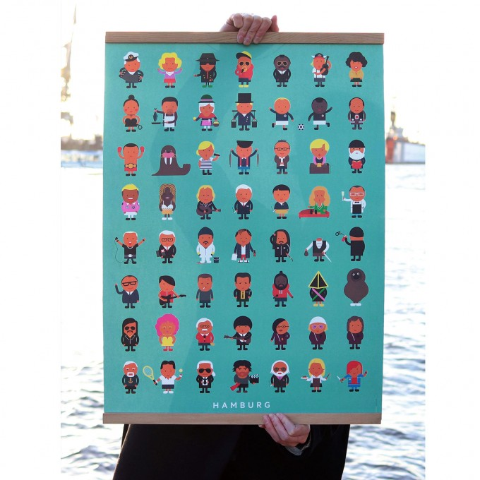 Hamburger Leude Poster (50x70cm)