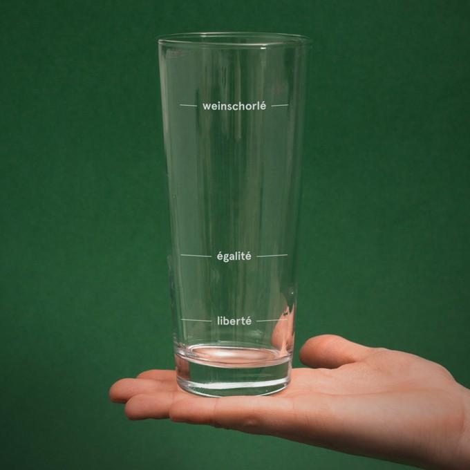"""edition ij Weinschorlen-Glas """"liberté égalité weinschorlé"""" (2er-Set)"""