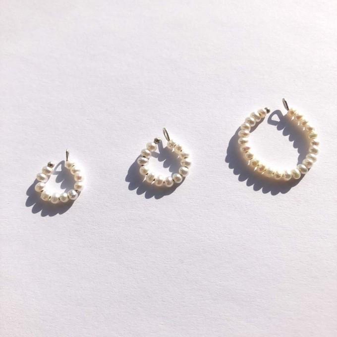 Earcuff small Pearl Cuff in Silber | i+j van der Weck