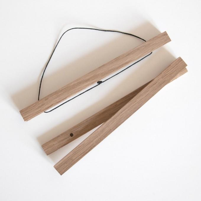 """nahili MAGNETISCHE POSTERLEISTE A3 """"Eco Click - On - Frame"""" Rahmen (inkl. Artprint) (Eiche, Ahorn, Nussbaum)"""