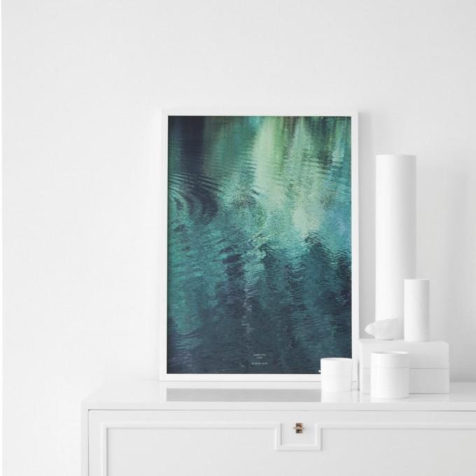 """nahili ARTPRINT/POSTER """"forest in the LAKE"""" Wasser abstrakt (DIN A1/A3 & 50x70cm)"""