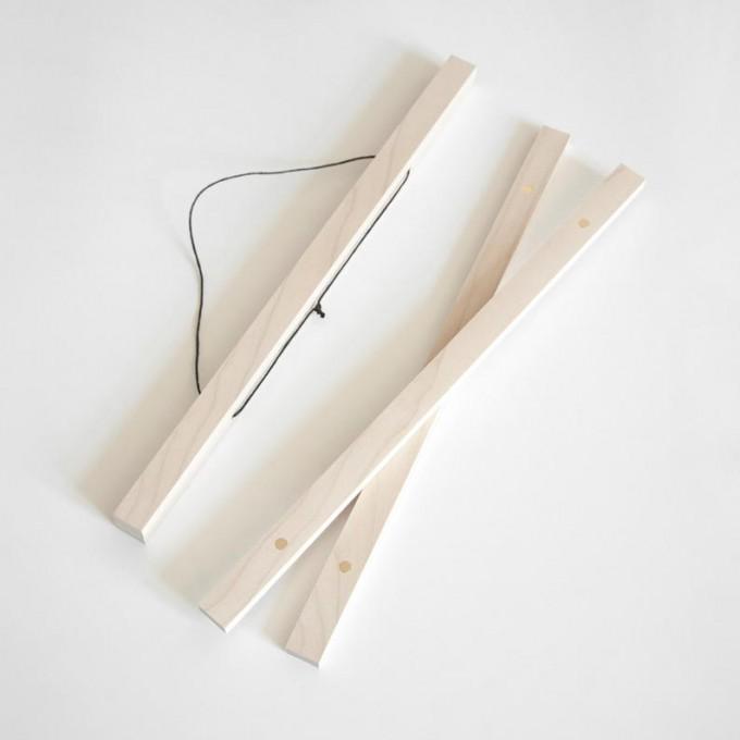 """nahili MAGNETISCHE POSTERLEISTE A2 """"Eco Click - On - Frame"""" Rahmen (inkl. Artprint) (Eiche, Ahorn, Nussbaum)"""